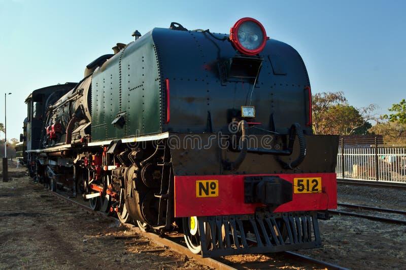 исторический паровоз Железные дороги соотечественника Зимбабве Victoria Falls, Зимбабве Африка стоковые фотографии rf