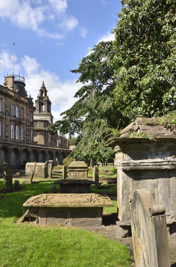 Исторический погост шотландского города стоковые фото