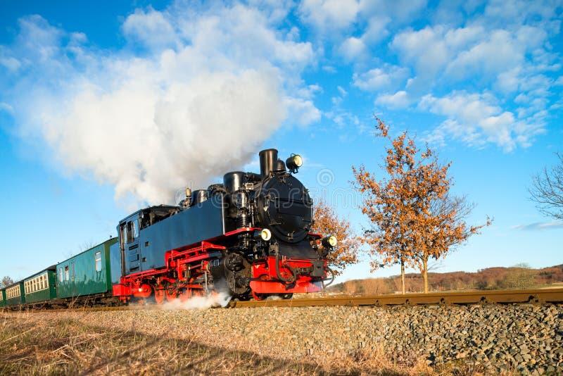 Исторический поезд пара на Rugen в Германии стоковая фотография