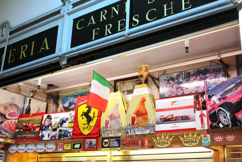 исторический рынок альбинелли, модена, италия стоковая фотография