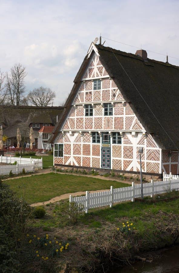 Исторический северный немецкий сельский дом I-Stade стоковые фотографии rf