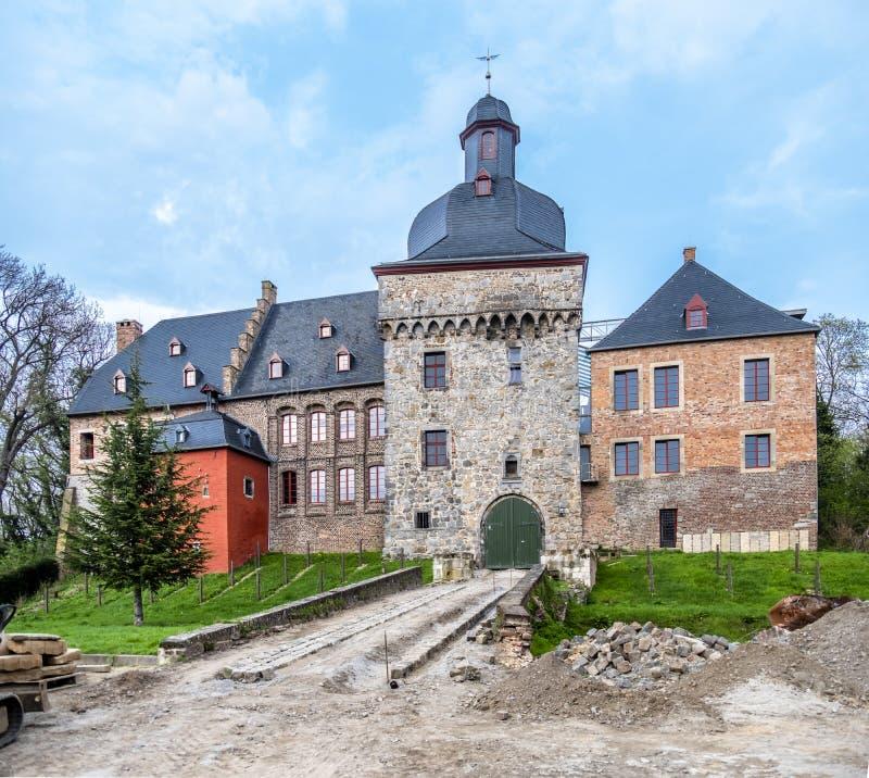 Исторический старый городок Liedberg в NRW, Германии стоковые изображения rf
