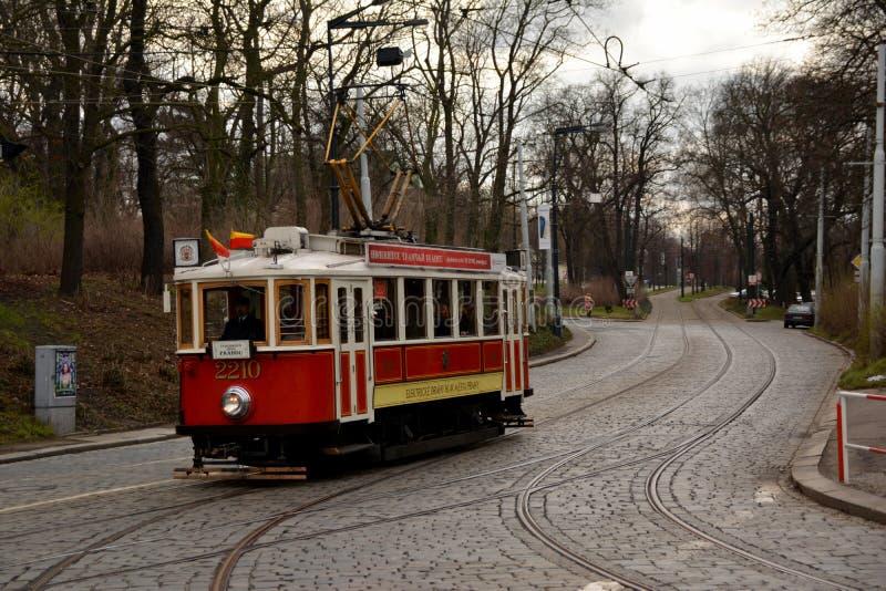 исторический трам стоковое изображение
