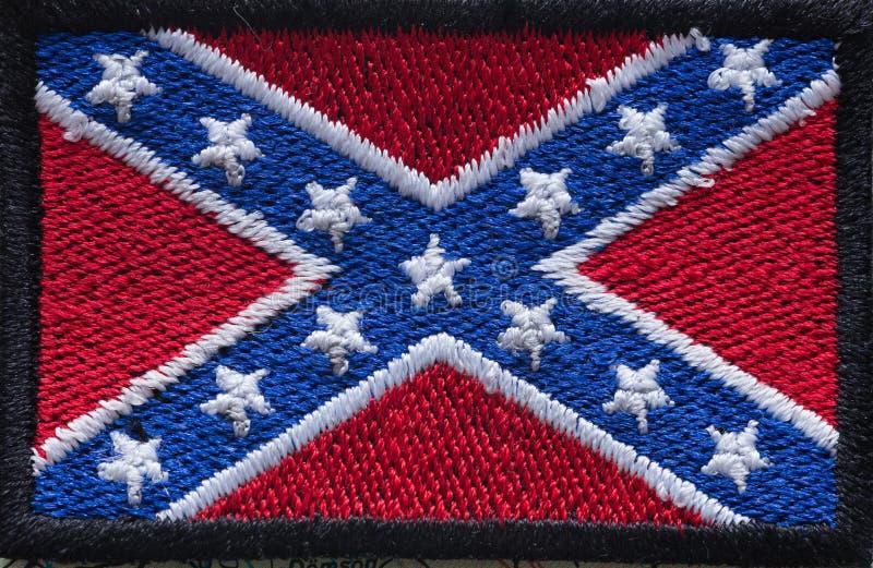 Исторический флаг юга Соединенных Штатов стоковое изображение rf