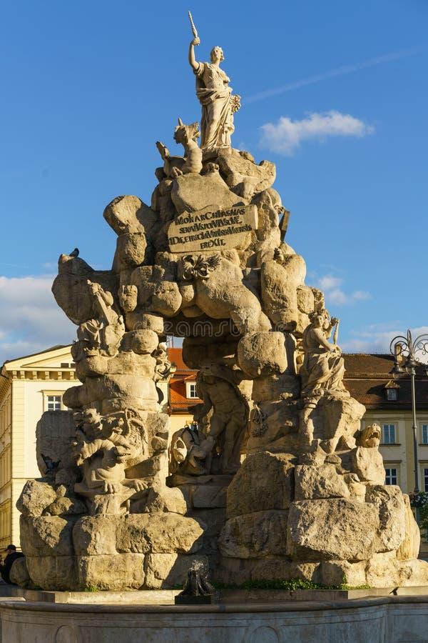 Исторический фонтан в Брне стоковое изображение rf
