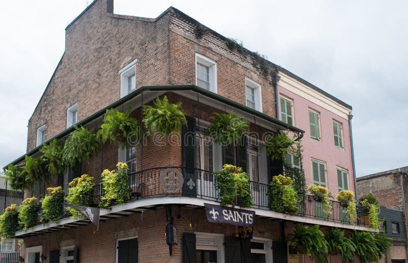 Исторический французский квартал Нового Орлеана стоковые изображения rf