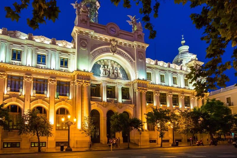 Исторический центр города Валенсии, Испании стоковое изображение rf