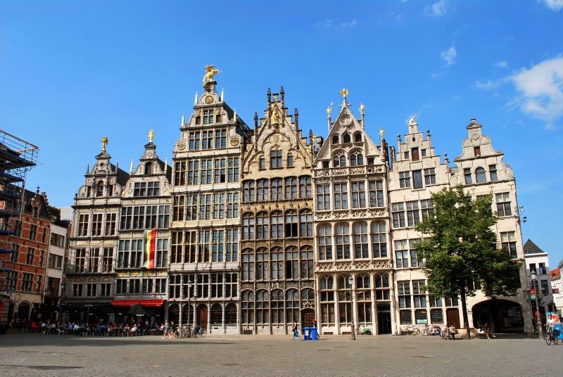 Исторический центр города в Антверпене стоковое изображение rf