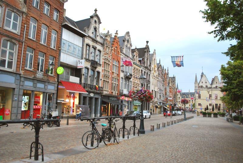 Исторический центр города в Mechelen стоковое изображение rf