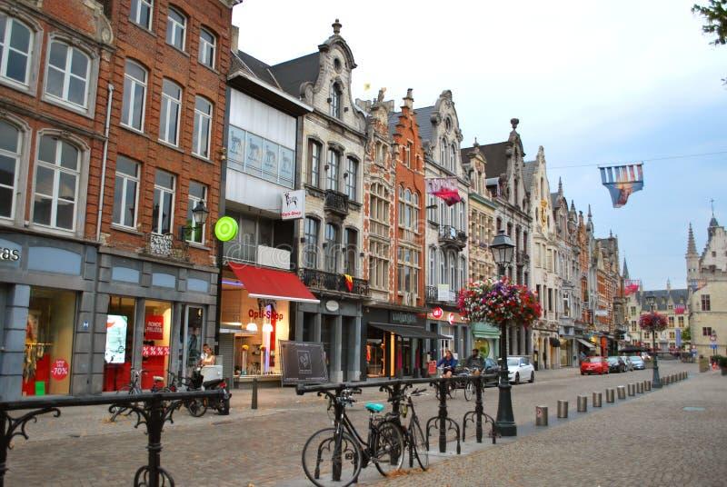 Исторический центр города в Mechelen стоковые фотографии rf