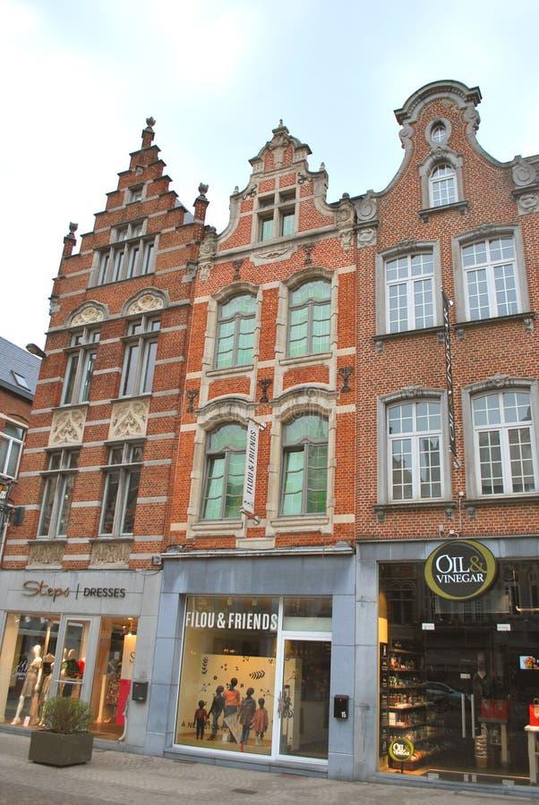 Исторический центр города в Mechelen стоковая фотография