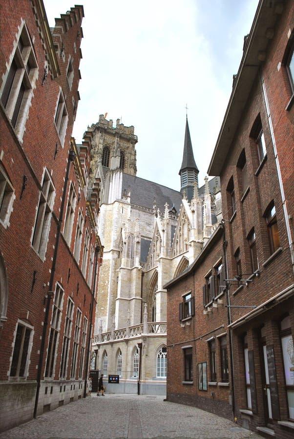 Исторический центр города в Mechelen стоковое фото