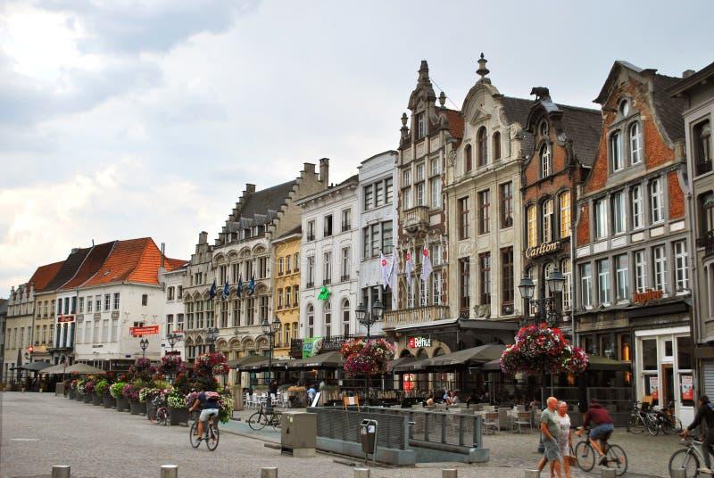 Исторический центр города в Mechelen стоковые изображения rf