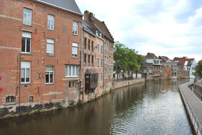 Исторический центр города в Mechelen стоковое фото rf