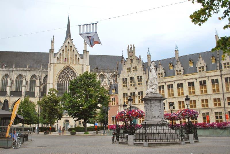 Исторический центр города в Mechelen стоковые фото