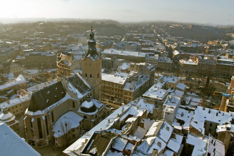 Исторический центр города Lviv стоковые изображения