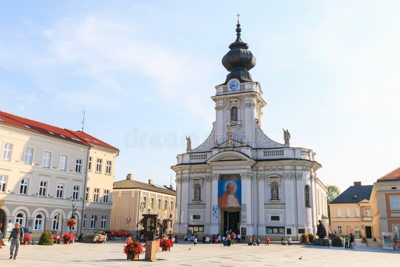 Исторический центр города Wadowice стоковое изображение