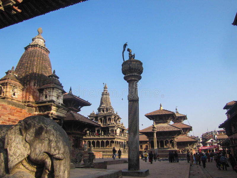 Исторический центр Катманду Patan стоковое изображение rf