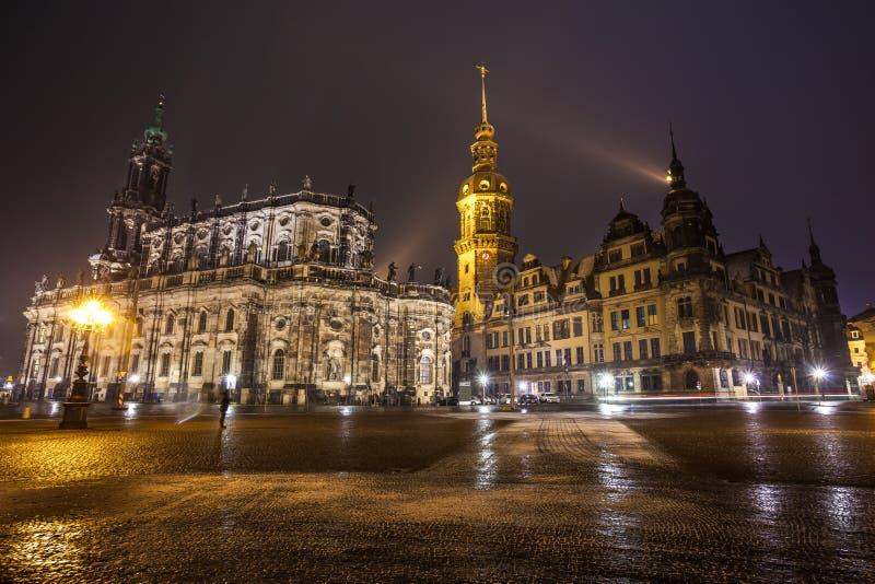 Исторический центр старого города Дрездена Собор t стоковая фотография
