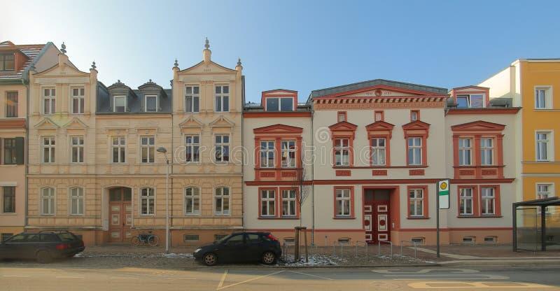 2 исторических дома XIX века, перечисленного как памятники в Greifswald, Германии стоковое фото