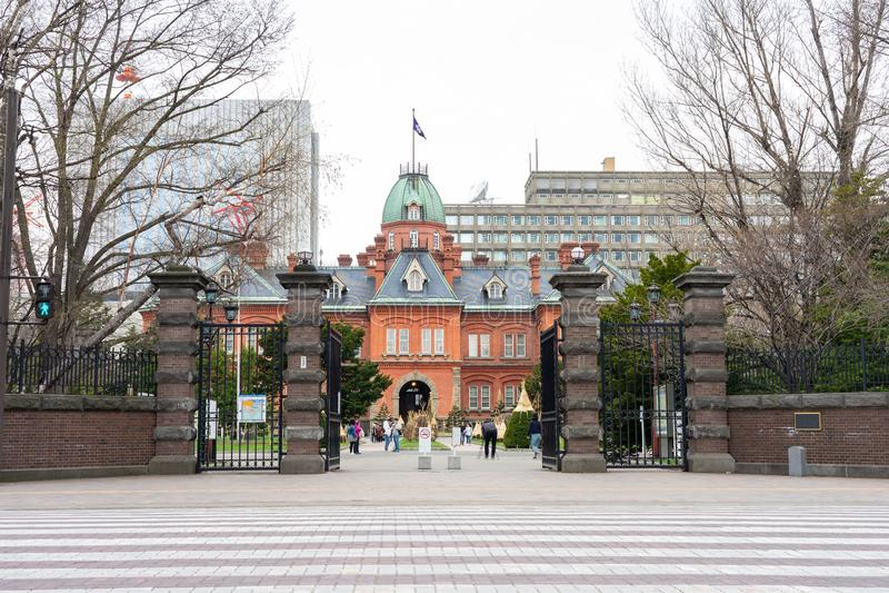 Историческое бывшее правительственное учреждение Хоккаидо в Саппоро, стоковая фотография rf