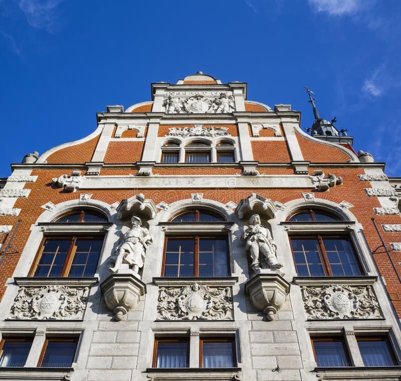 Историческое здание банка, Opava, чехии стоковое изображение