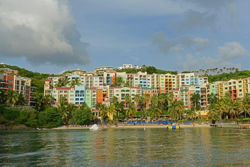 Историческое здание на острове St. Thomas, США Виргинских островах, США стоковое изображение rf