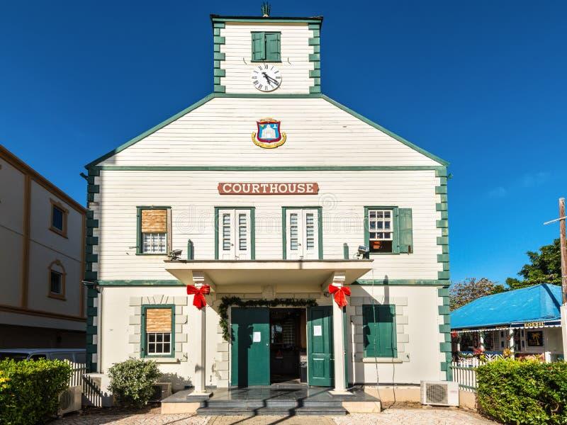 Историческое здание суда Philipsburg, St Maarten, Вест-Индия стоковое фото rf
