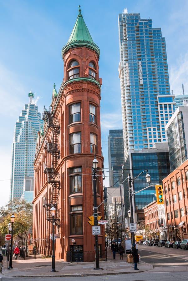 Историческое здание Gooderham в городском Торонто на солнечный день стоковые изображения rf