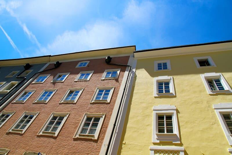 Историческое зодчество в Зальцбург стоковое изображение