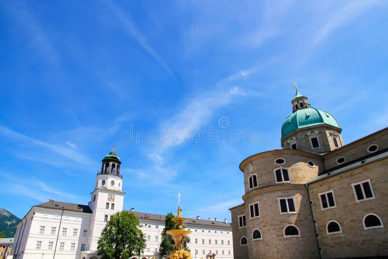 Историческое зодчество в Зальцбург стоковое изображение rf