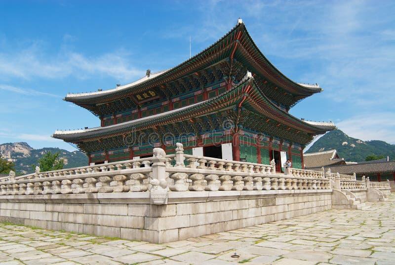 Историческое здание в дворце Gyeongbokgung в Сеуле, Корее стоковые фото
