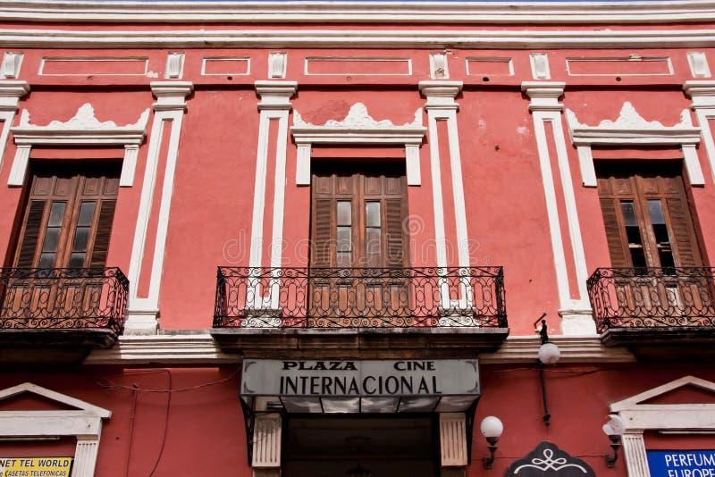 Историческое здание в Мериде Юкатане стоковые изображения