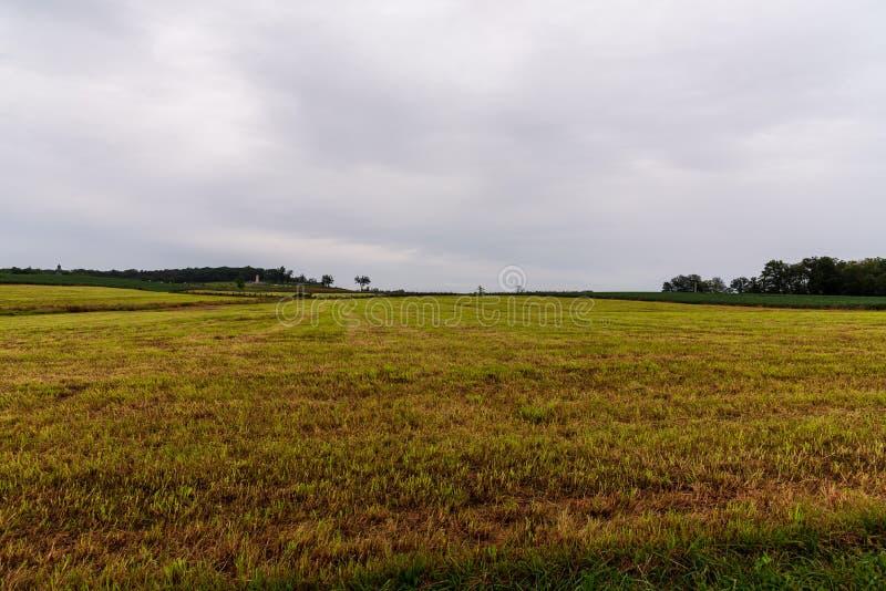 Историческое поле брани в Gettysburg, PA стоковое изображение