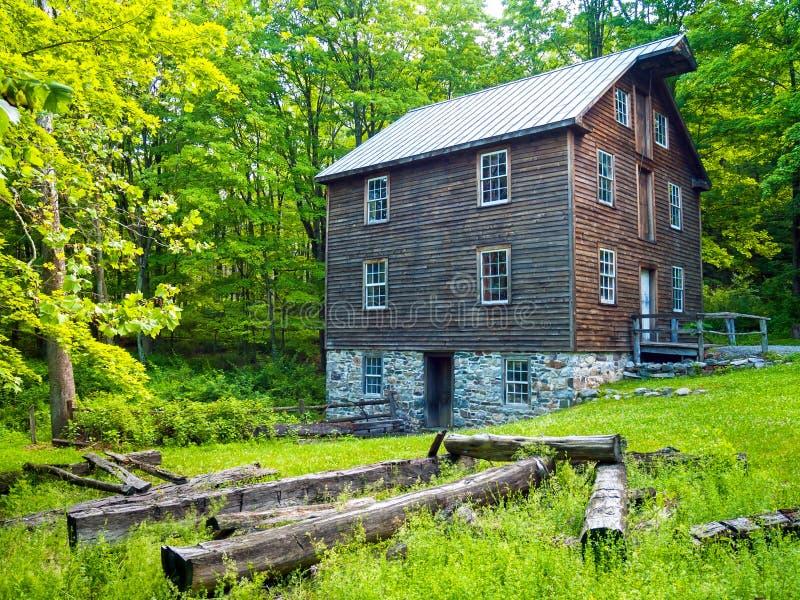 историческое село millbrook стоковая фотография
