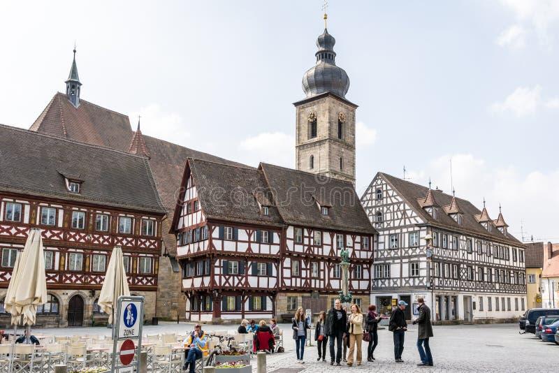 Историческое Forchheim стоковые фотографии rf