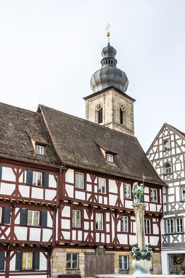 Историческое Forchheim стоковые изображения rf