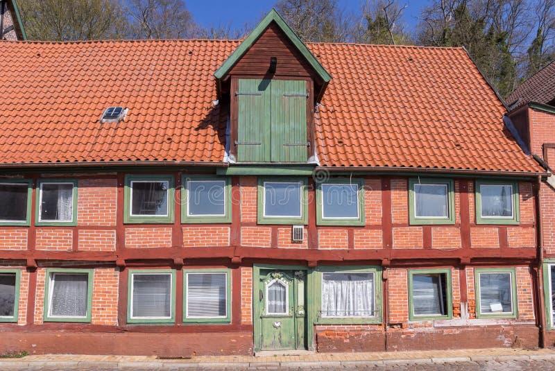 Исторической дом timbered половиной в Lauenburg стоковые изображения