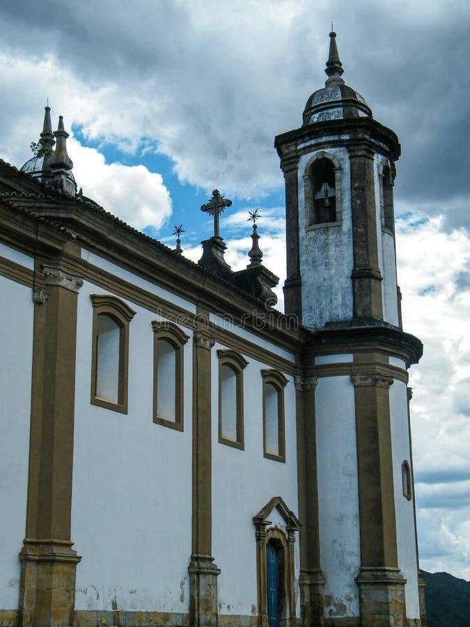 История в реальном маштабе времени в Ouro Preto (минах Gerais - Бразилии) стоковые фотографии rf