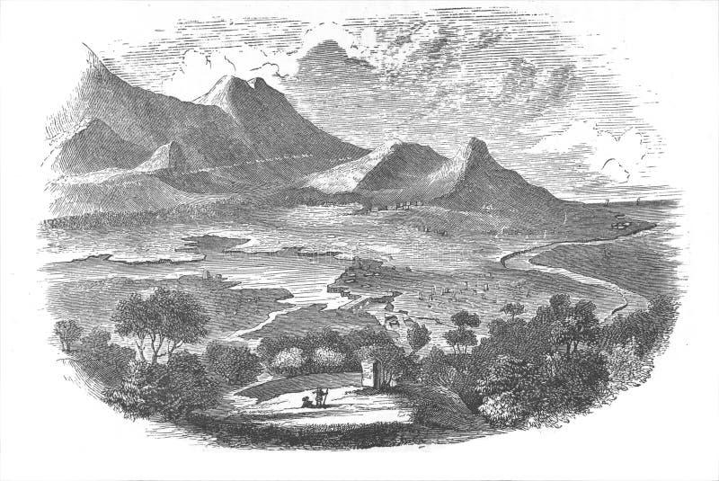история города amphipolis стоковые фото