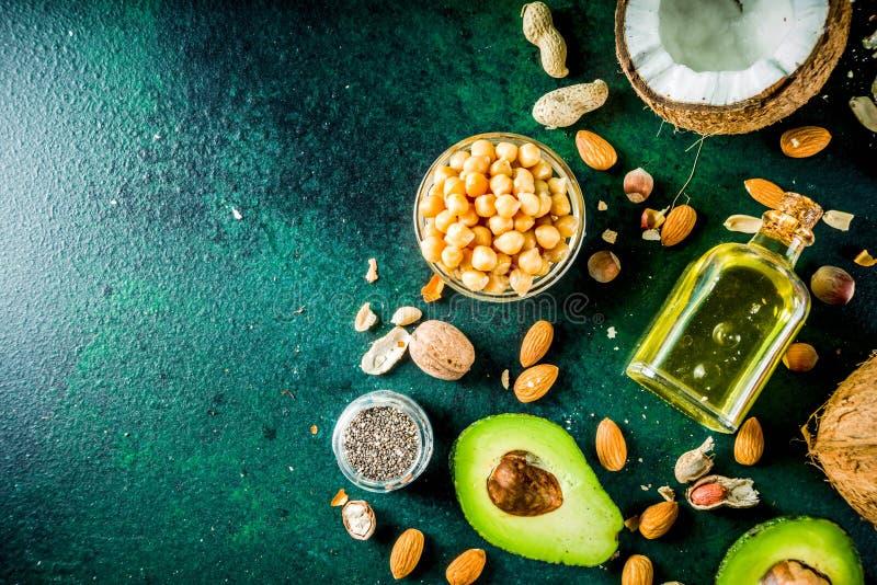 Источники здорового vegan жирные стоковые фотографии rf