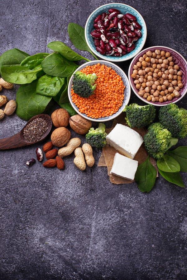 Источники протеина Vegan стоковые изображения rf
