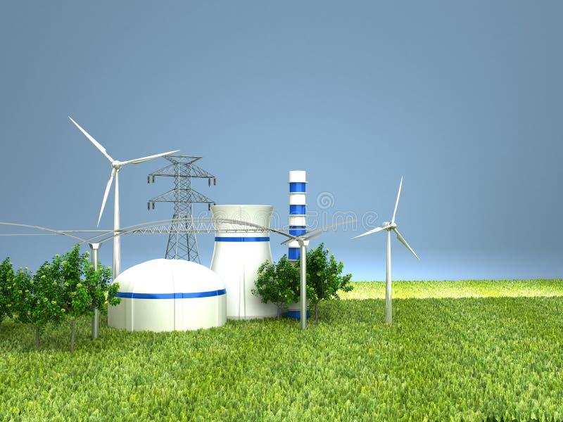 Источники энергии стоковое изображение rf