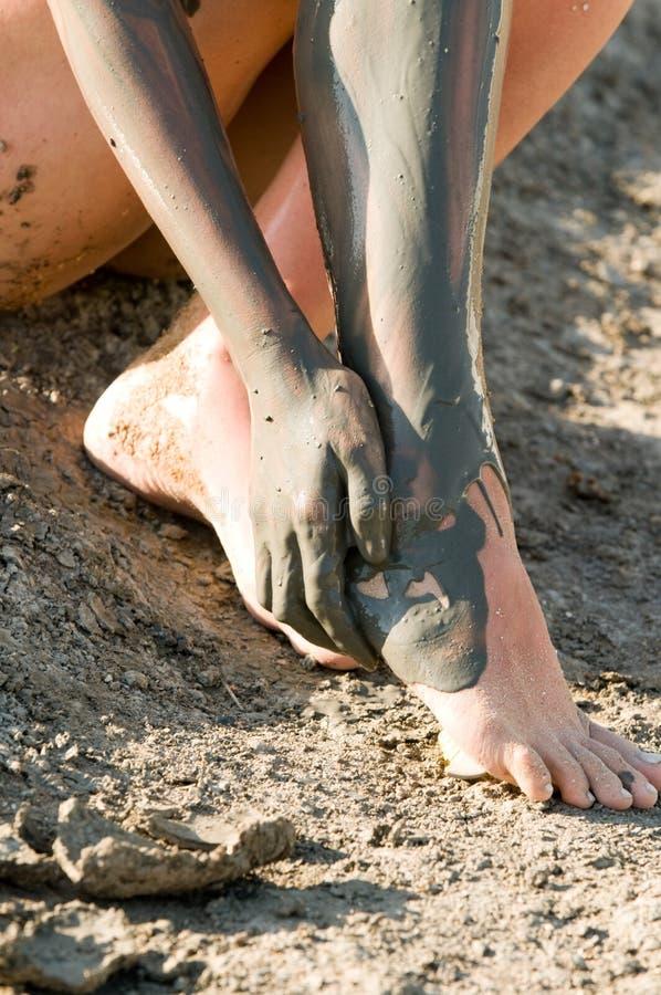 источник грязи стоковое фото