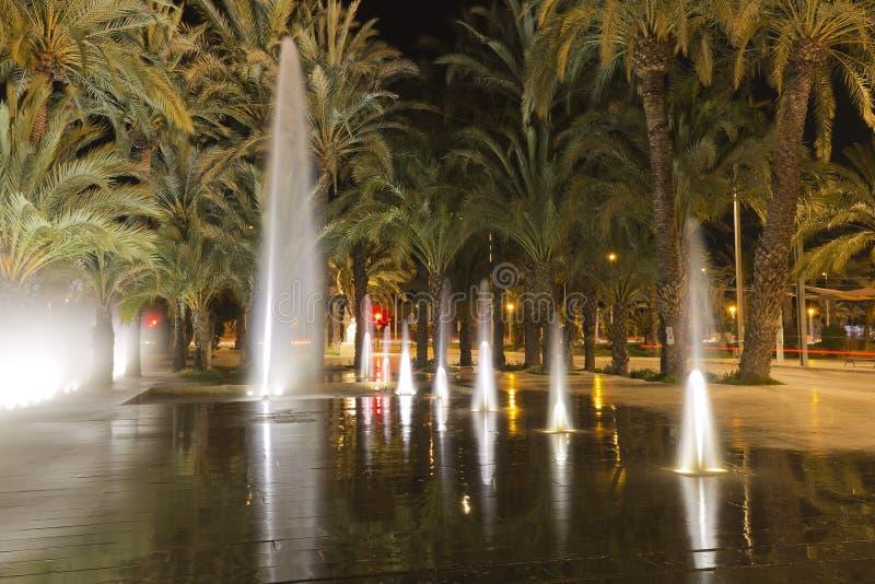 Источник Elche в Испании стоковые фотографии rf