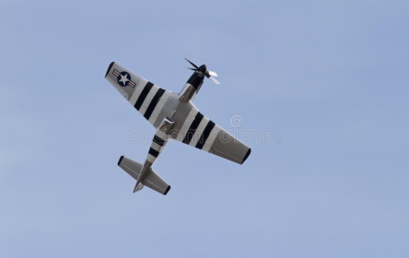 Истребительная авиация мустанга Второй Мировой Войны P-51 стоковые изображения