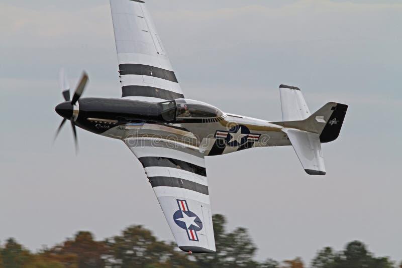 Истребительная авиация мустанга Второй Мировой Войны P-51 стоковые фото
