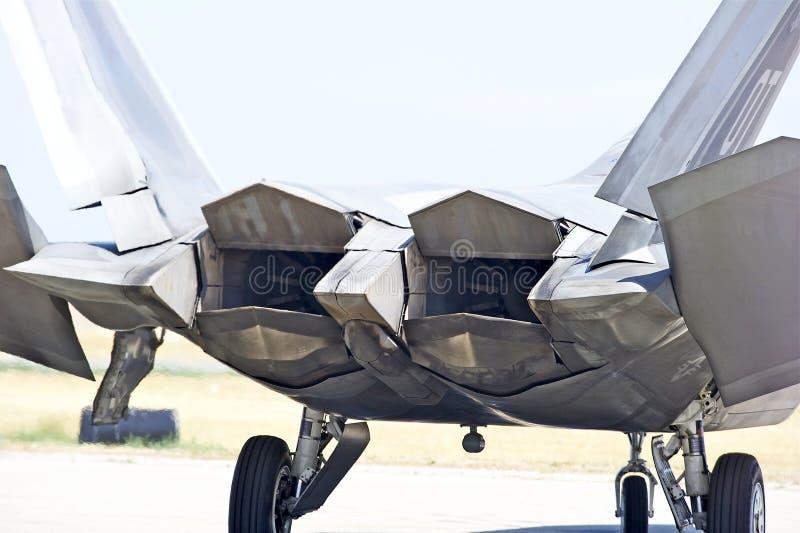 Истребительная авиация хищника F-22 тактическая стоковая фотография rf