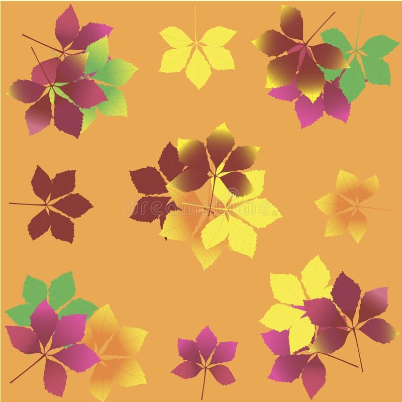 8 листьев eps предпосылки осени включенных архивом иллюстрация вектора