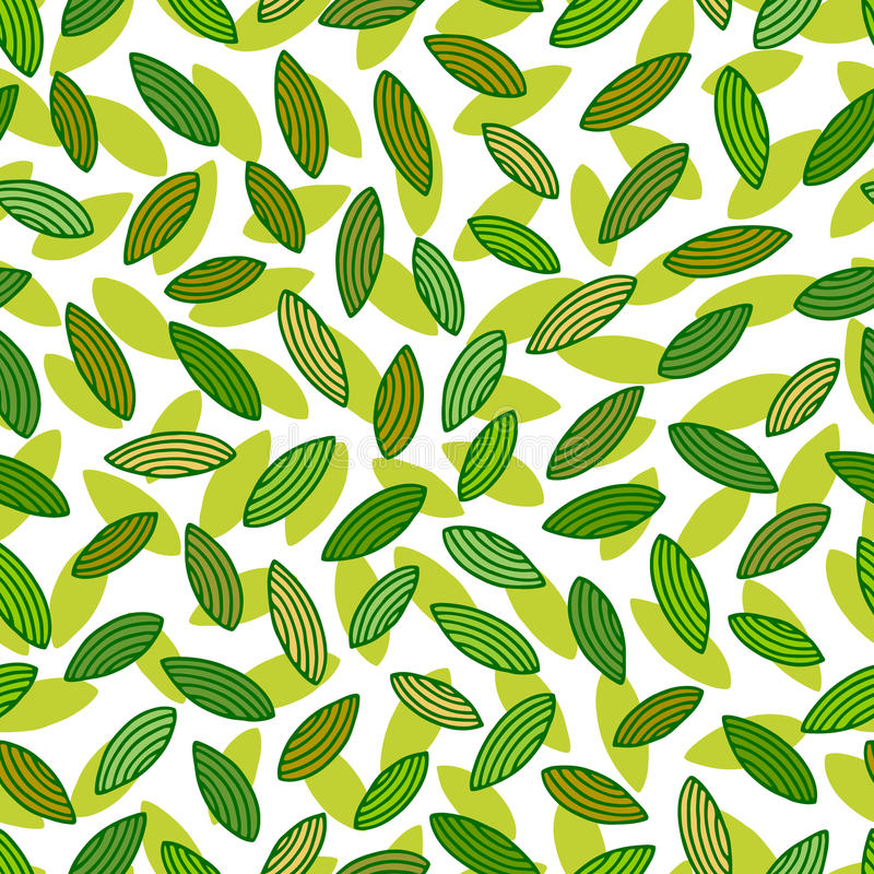 листья делают по образцу безшовное бесплатная иллюстрация